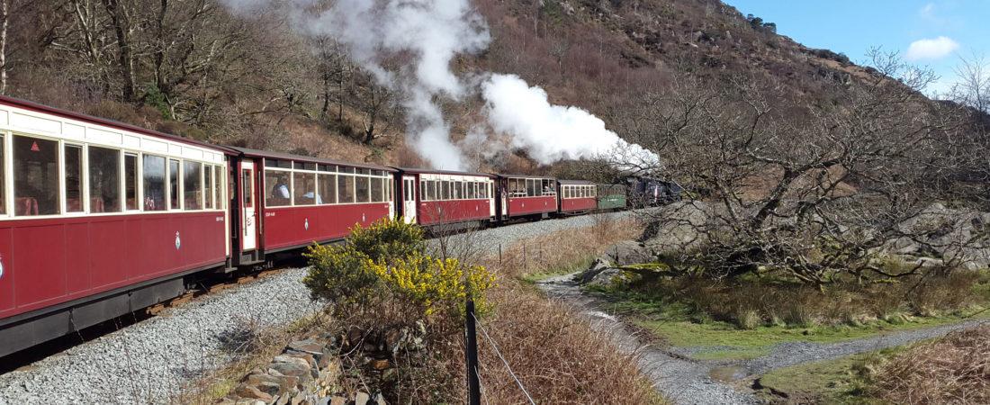 Ffestiniog railway near Tudor Lodge Porthmadog