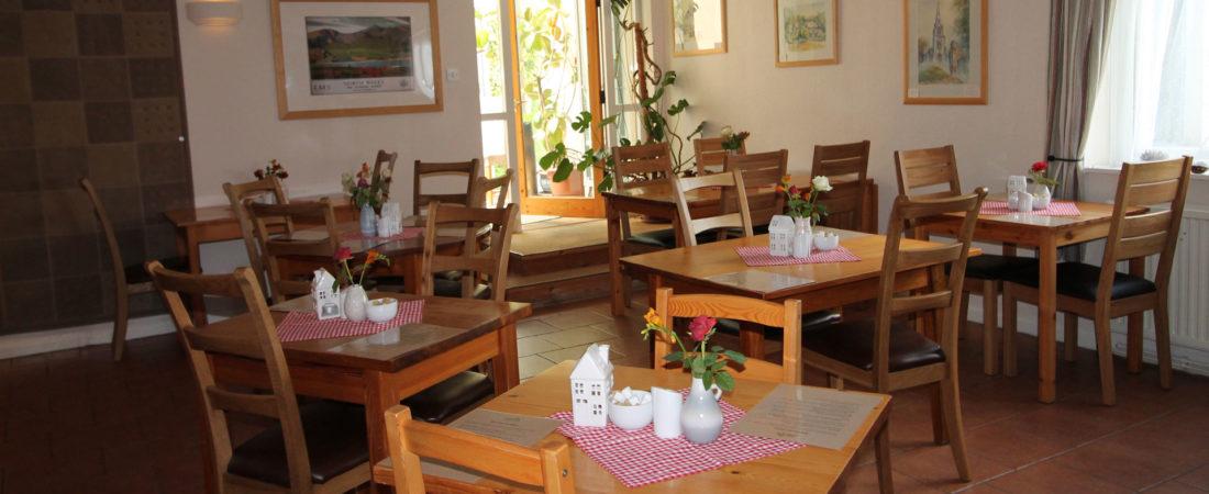 dining room at  tudor lodge wales