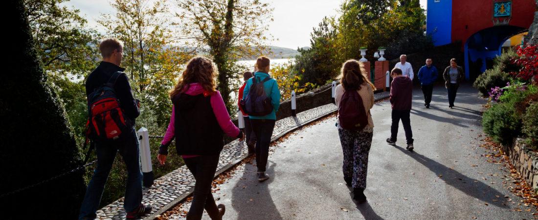 Group visiting Porthmeirion