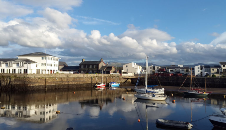Porthmadog harbour near Tudor Lodge