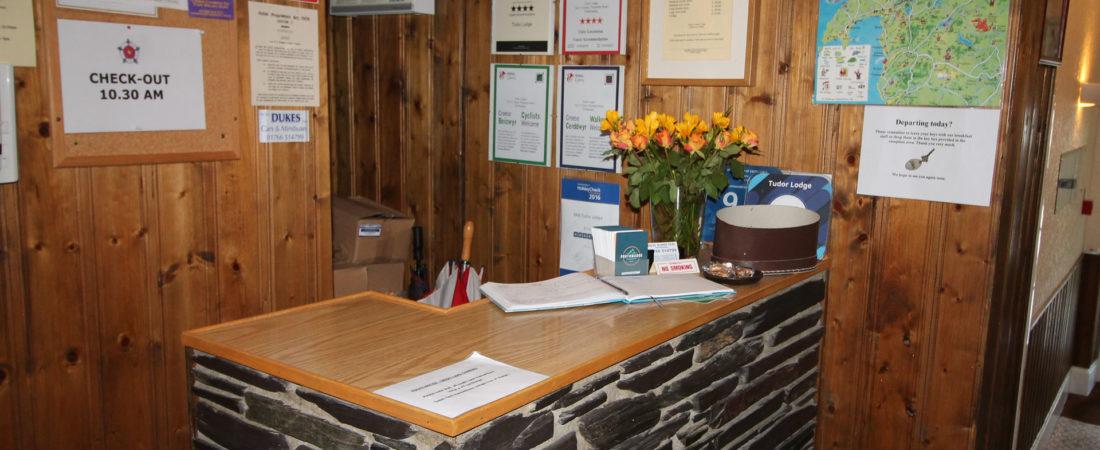 tudor lodge wales reception area