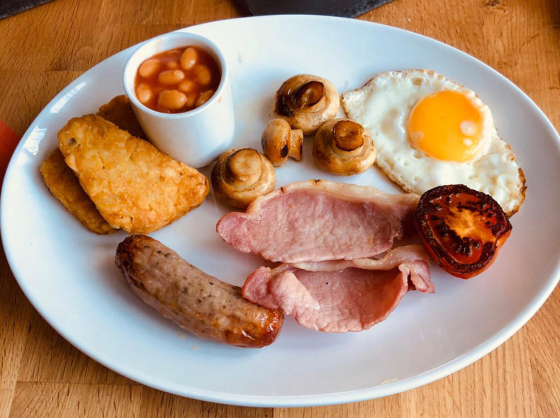 Cooked Breakfast in Porthmadog, Wales