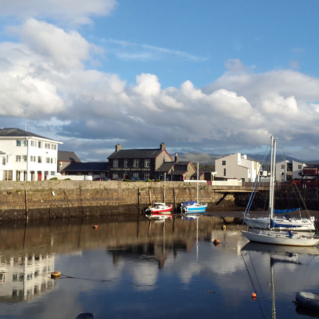 Porthmadog Harbour - wales - Snowdonia - Cumbria - Mountains - sea - coast - hotel